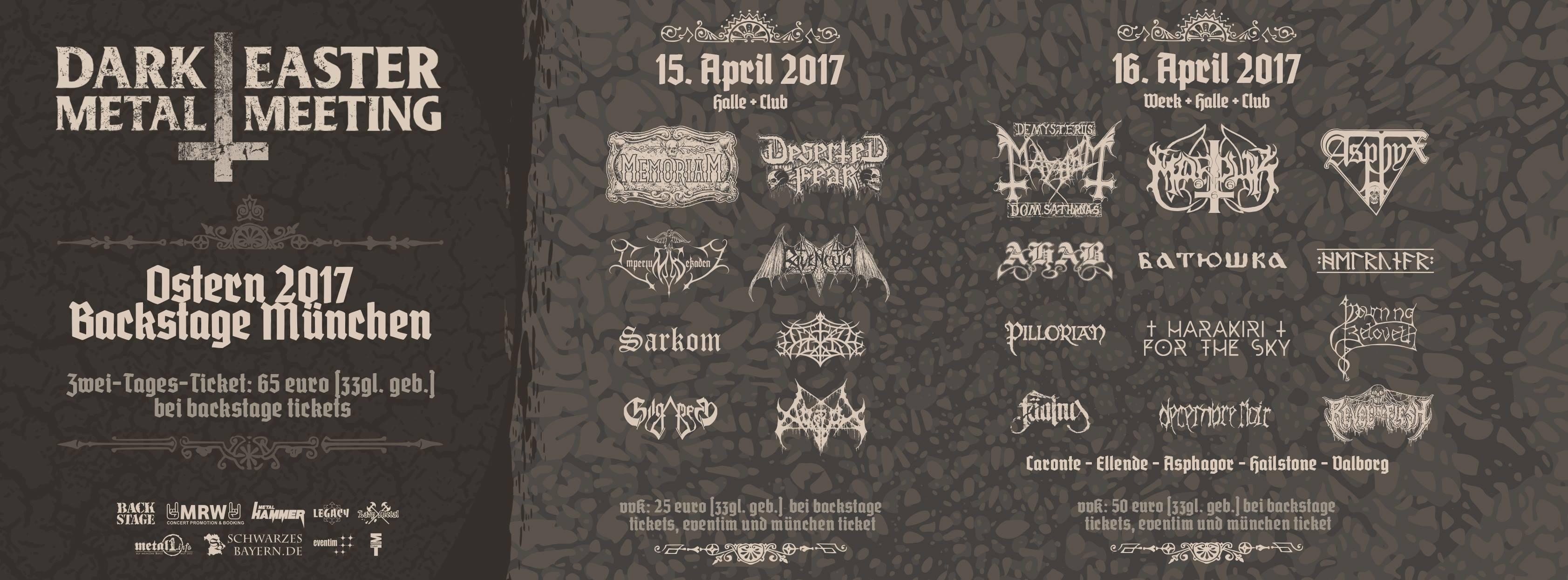 dark easter metal meeting 2017 backstage m nchen am 15. Black Bedroom Furniture Sets. Home Design Ideas