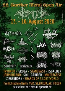 Flyer Barther Metal Open Air 2020