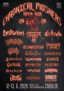 Flyer Chronical Moshers Open Air 2020