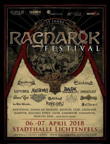 Flyer Ragnarök Festival 2018 - 15 Years