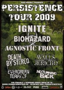 Flyer Persistence Tour 2009