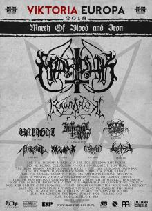 Flyer Marduk - March Of Blood And Iron