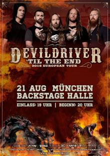 Flyer DevilDriver - `Til The End Tour 2018