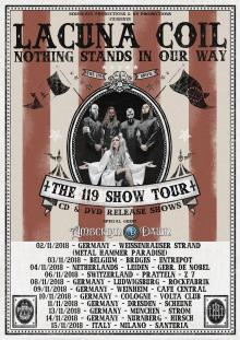 Flyer Lacuna Coil - The 119 Show Tour