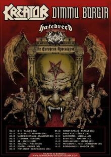 Flyer Kreator & Dimmu Borgir - The European Apocalypse Tour 2018