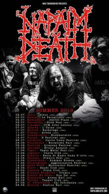 Flyer Napalm Death w/ Misery Index