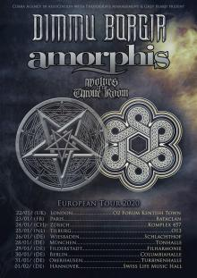 Flyer Dimmu Borgir w/ Amorphis & Wolves In The Throne Room