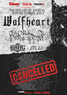 Flyer Wolfheart w/ Mors Principium Est, Bloodred Hourglass & Atlas