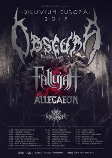 Flyer Obscura - Diluvium Europa 2019 Tour