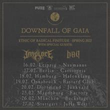 Flyer Downfall Of Gaia - Ethic of Radical Finitude 2022