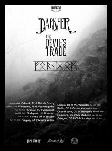 Flyer Darkher w/ The Devil's Trade & Forndom
