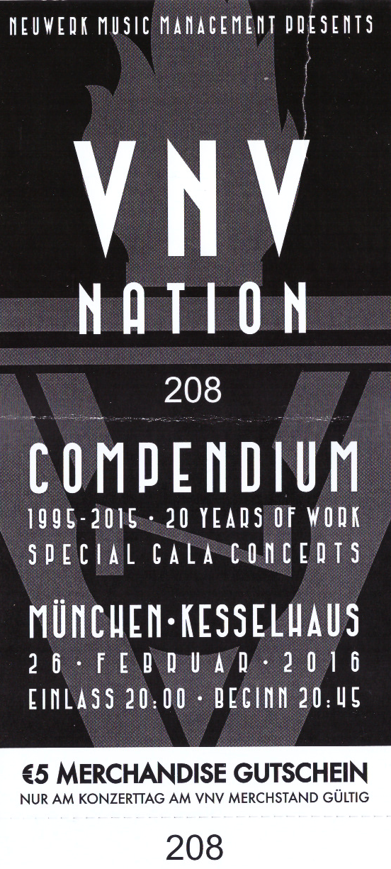 vnv nation compendium gala event kesselhaus m nchen. Black Bedroom Furniture Sets. Home Design Ideas