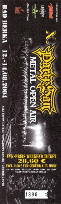 Ticket Party.San Open Air 2004